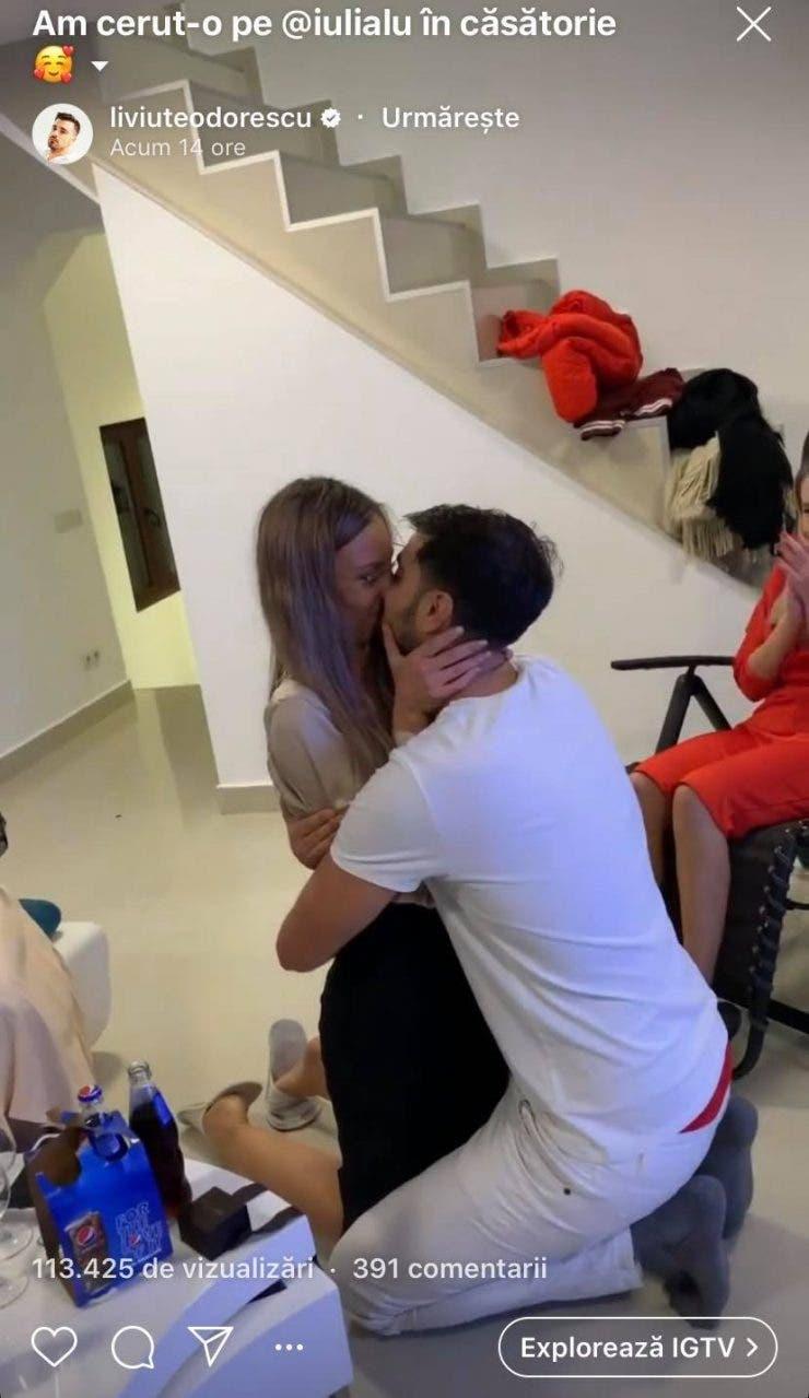 Liviu Teodorescu a cerut-o in casatorie pe iubita sa
