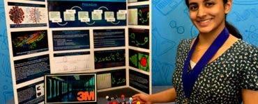 O elevă de 14 ani a dezvoltat un tratament împotriva COVID-19