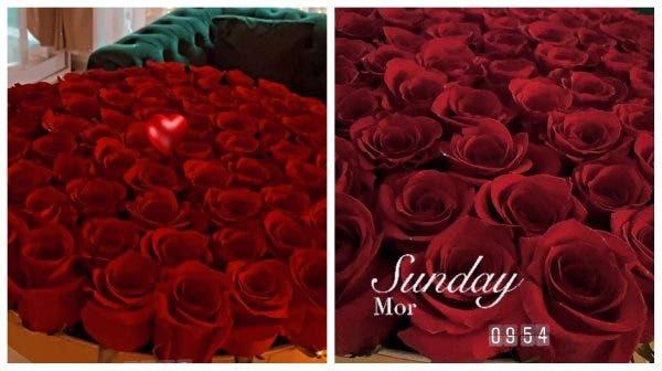 Bianca Dragusanu a primit un alt buchet de trandafiri