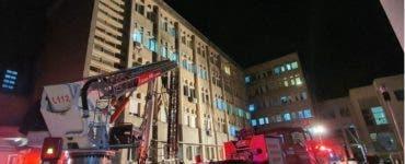 Incendiu Spitalul Judetean Piatra Neamt