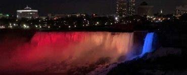 Cascada Niagara va fi iluminată în culorile drapelului românesc