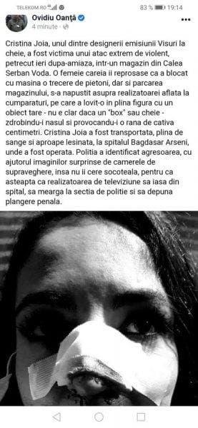 Cristina Joia a fost agresata