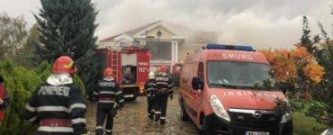 Vila lui Irinel Columbeanu a ars din temelii