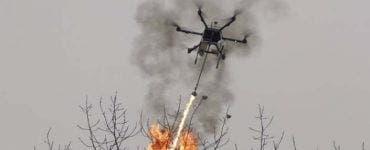 Chinezii au folosit aruncătoare de flăcări pentru a distruge un cuib de viespi