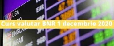 Curs valutar BNR 1 decembrie 2020