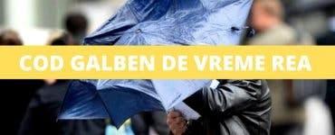 Meteorologii au anunțat cod galben de vreme rea în 8 județe în România
