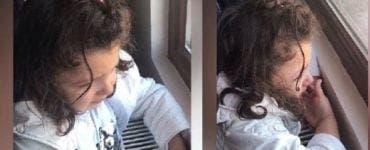 O fetiță a început să plângă pentru că nu a fost lăsată să voteze