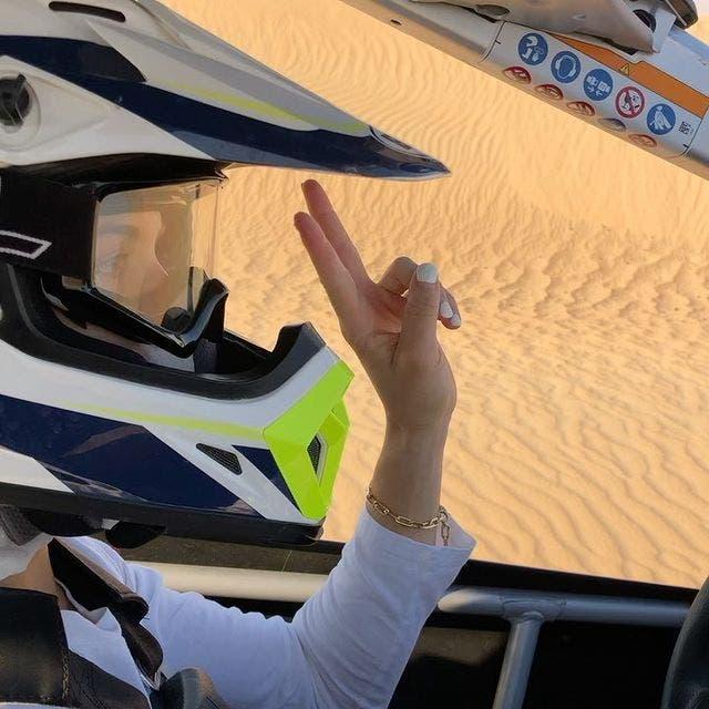 Eugenie Bouchard in desert