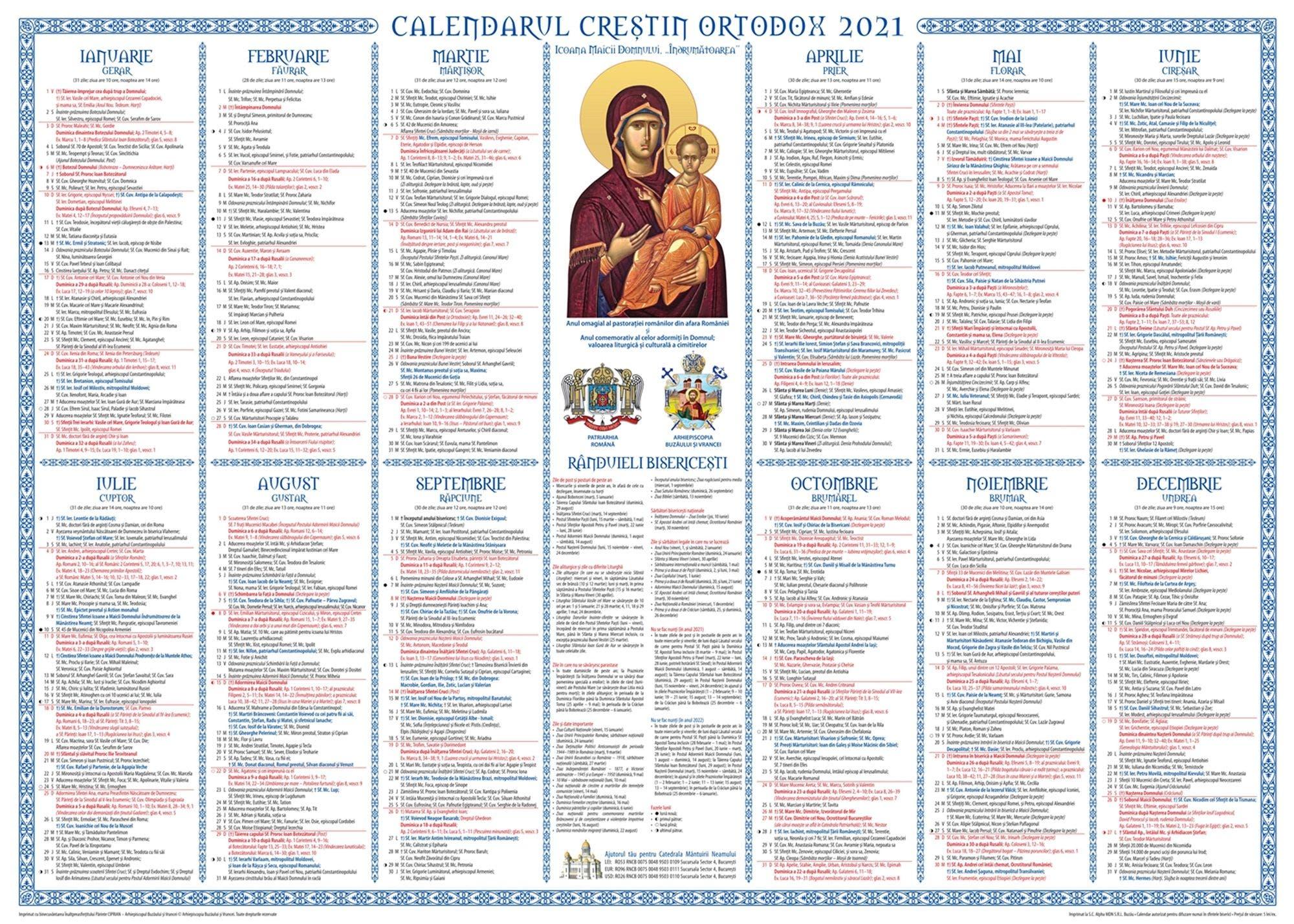 Calendar ortodox 12 ianuarie 2021. Ce rugăciune se spune
