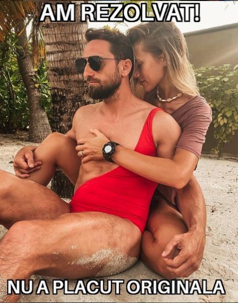 Cum s-au fotografiat Dani Oțil și iubita lui pe plajă în Maldive