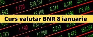 Curs valutar BNR 8 ianuarie 2021