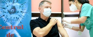 Klaus Iohannis va face doza 2 de vaccin anti-COVID19