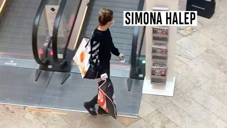 Cum a fost surprinsă Simona Halep la cumpărături! Și-a umplut o sacoșă de rafie și a cărat-o pe umăr