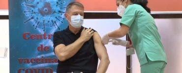 Klaus Iohannis s-a vaccinat anti-COVID! Cum a decurs procesul