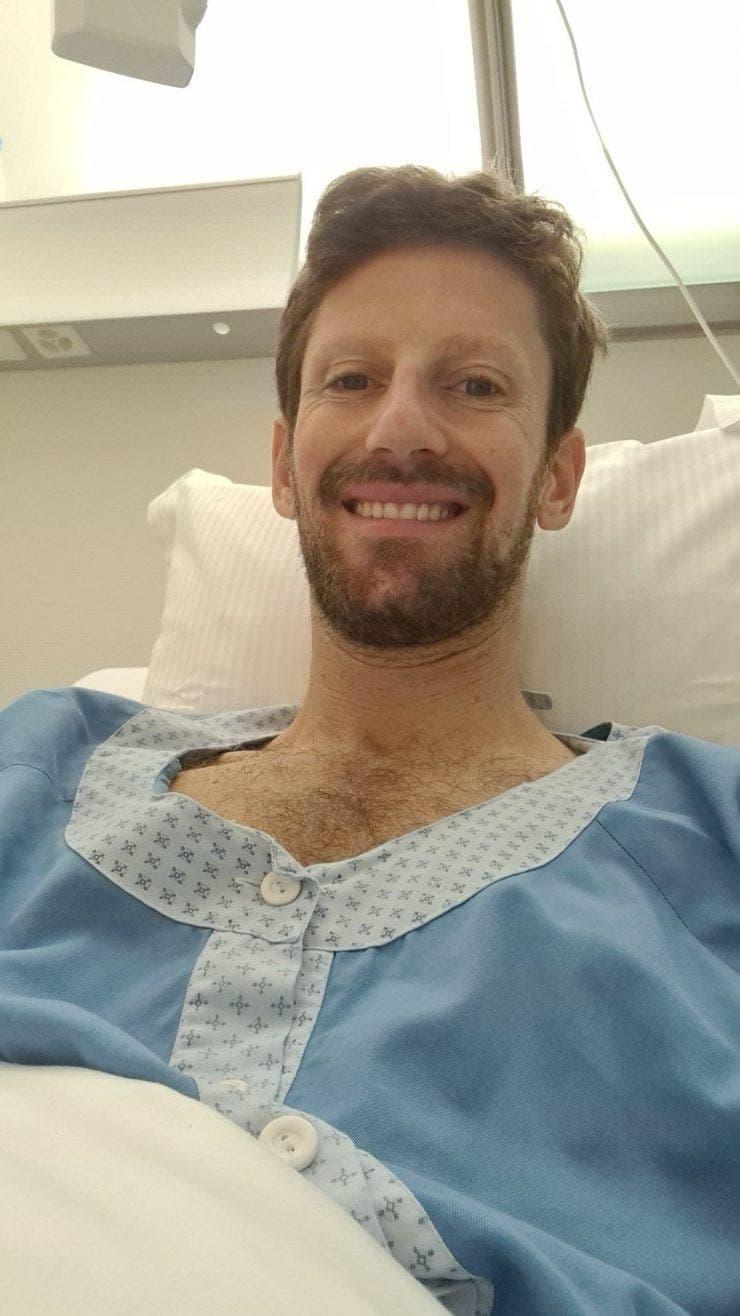 Romain Grosjean spital