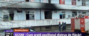 Primele imagini Institutul Matei Balș după ce a ars! Pereții exteriori sun carbonizați