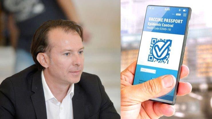 Florin Cîțu, despre pașaportul de vaccinare