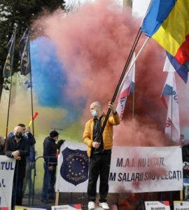 Protest la Palatul Cotroceni