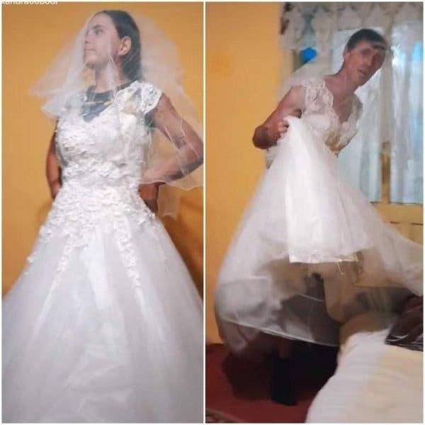 Imagini incredibile cu Alexandra și Ionuț Bodi! Regii Tik Tok-ului au făcut paradă în rochii de mireasă