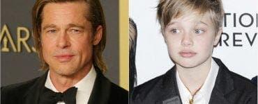 Cum arăta Brad Pitt în școală! Fiica actorului are trăsăturile identice FOTO