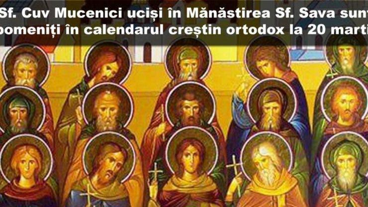 Calendar ortodox 20 martie 2021
