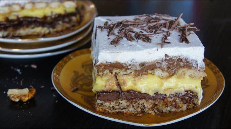 Cum se face prăjitura Kinder Bueno.