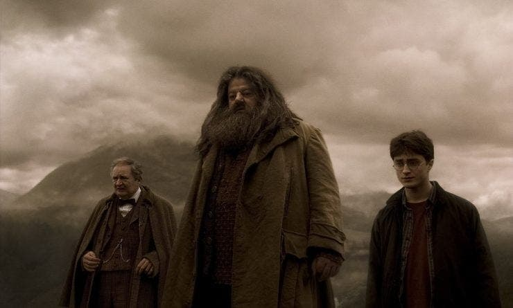 Hagrid din Harry Potter a ajuns de nerecunoscut