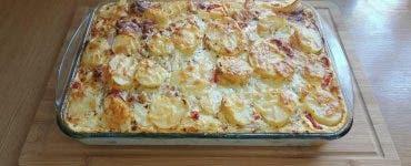 Rețetă cartofi frantuzesti gratinati