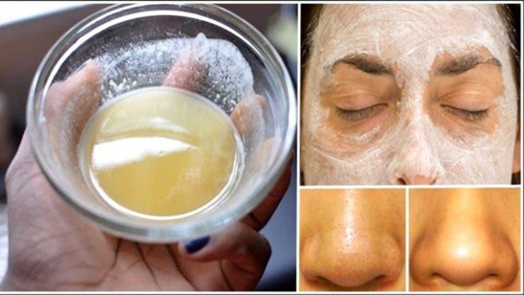 mască facială cu bicarbonat de sodiu