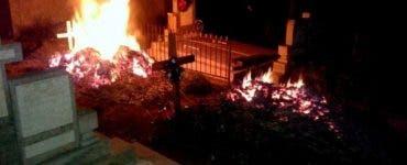 Scene șocante în Tulcea! O femeie şi-a dat foc în cimitir, după ce a aflat că a fost condamnată la închisoare