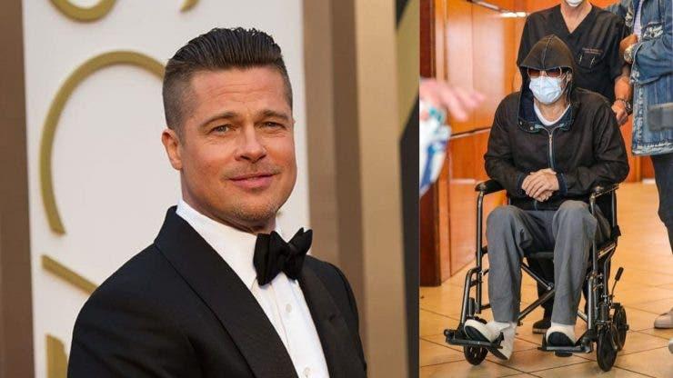 Actorul a apărut într-un scaun cu rotile