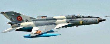 Un avion de tip MIG Lancer 21 s-a prăbușit în România.