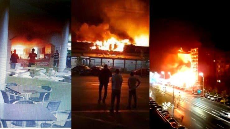 Un incendiu devastator a distrus cel mai mare restaurant Dristor Doner Kebap din Capitală