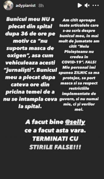 """Reacția dură a nepotului lui Nelu Ploieșteanu, după decesul bunicului său: """"Îi era teamă să nu i se întâmple ceva"""""""