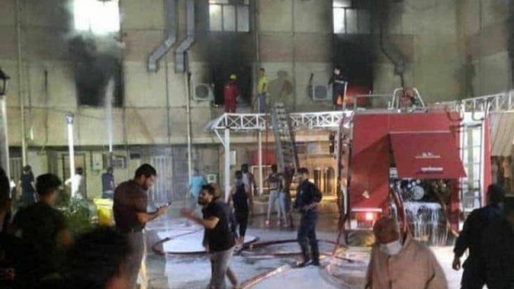 Incendiu puternic într-un spital Covid din Bagdad! Explozia unui rezervor de oxigen a ucis 23 de oameni