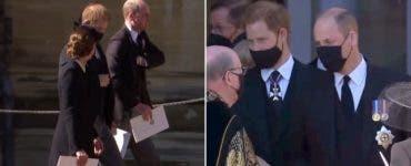 Gestul pe care l-a făcut Kate Middleton la înmormântarea prințului Philip! Ce a făcut aceasta pentru William și Harry