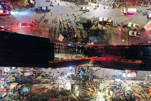 Scene cumplite în Mexic! Cel puțin 15 oameni au murit într-un accident la metroul suspendat din capitală