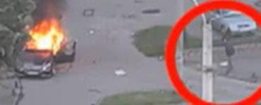 Noi detalii au ieșit la iveală în cazul atentatului cu bombă de la Arad! Un bărbat îmbrăcat în negru, surprins la locul exploziei