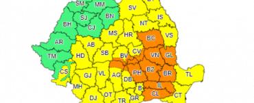 Alertă de Cod galben şi Cod portocaliu de ploi în aproape toată țară! Ce județe sunt afectate