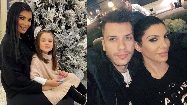 Andreea Tonciu a ajuns la spital cu fiica sa.