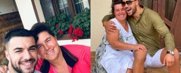 Mama Geta, fotografie amuzantă cu fiul său cel mare.