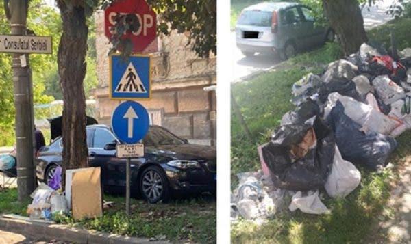 A aruncat gunoiul in spatiul public