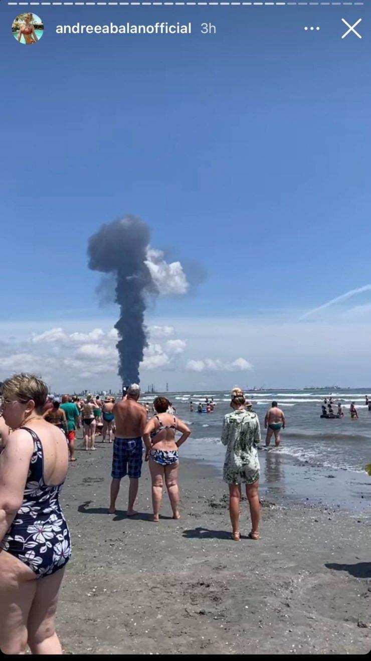 """Andreea Bălan și fiicele ei au fost martore la explozia de la Rafinăria Petromidia! """"Este foarte, foarte mult fum!"""""""