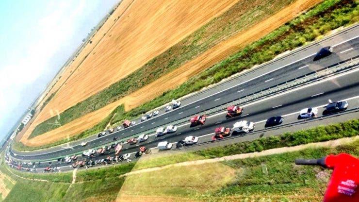 Carambol pe Autostrada Soarelui
