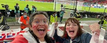 O suporteră a naționalei Angliei a rămas fără job după meci! Șeful ei a văzut-o în direct la TV