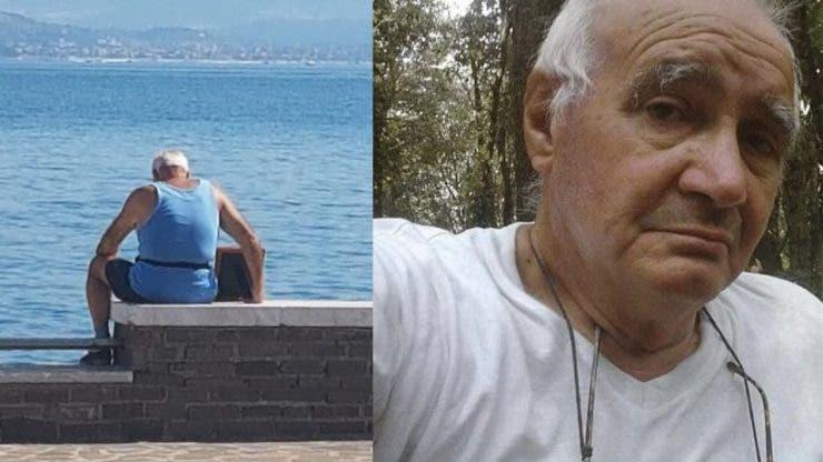 Un bătrân merge în fiecare zi la plajă având la el o fotografie cu soția sa decedată