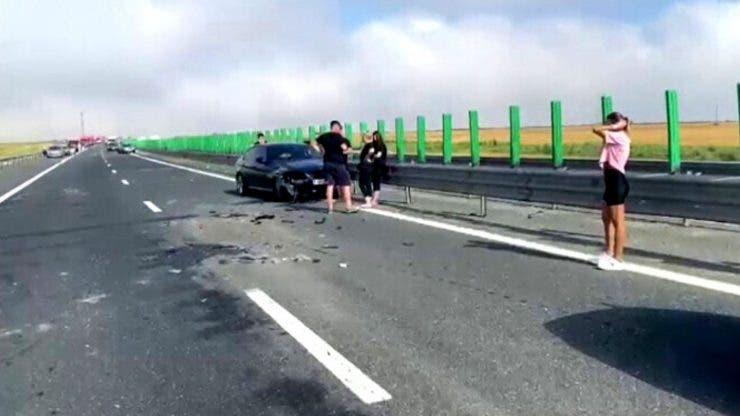 Un nou accident pe Autostrada Soarelui.