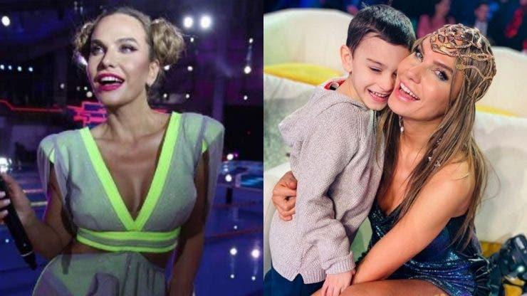 Fiul Annei Lesko, mândră de fiul ei, Adam.