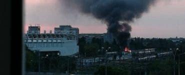 Incendiu masiv la Gara de Nord! Mai multe vagoane au luat foc