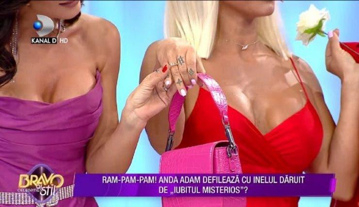 """Anda Adam și Yosif Eudor Mohaci s-au logodit! Vedeta a făcut anunțul în timpul emisiunii """"Bravo, ai stil!"""""""